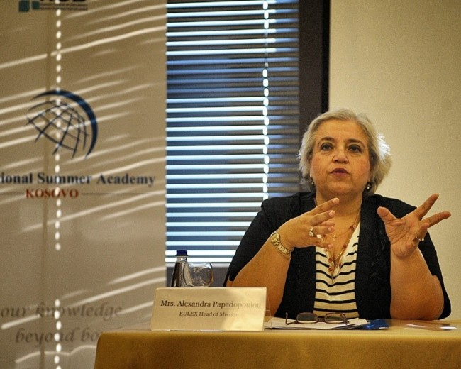 Mrs. Alexandra Papadopoulou, Head of European Union Rule of Law Mission in Kosovo